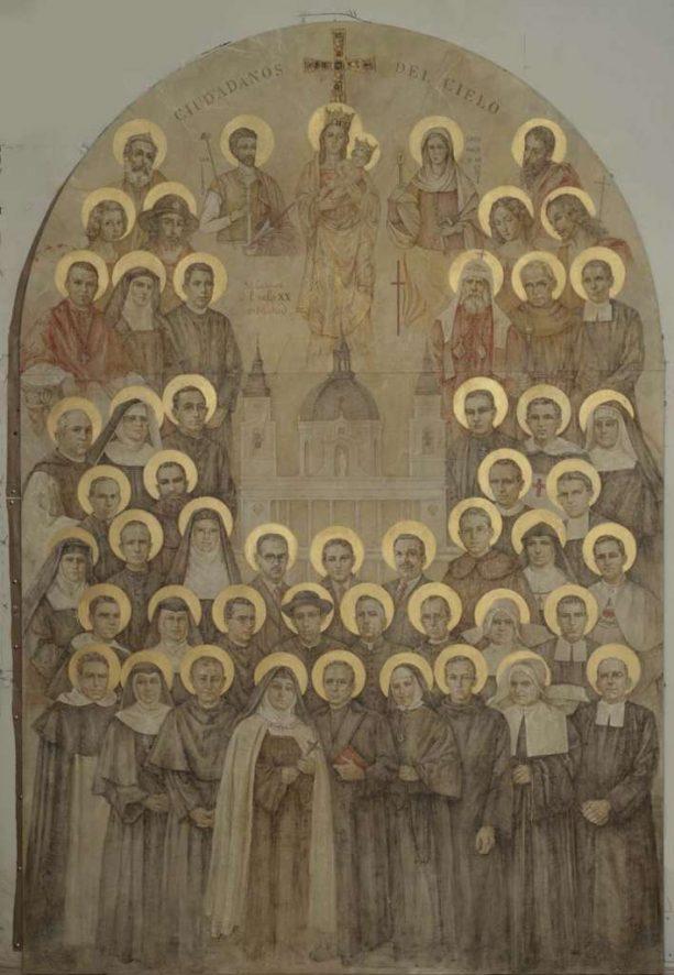 Icono de los martires del s.XX- 240 x 170.Iglesia de las Calatravas-Madrid
