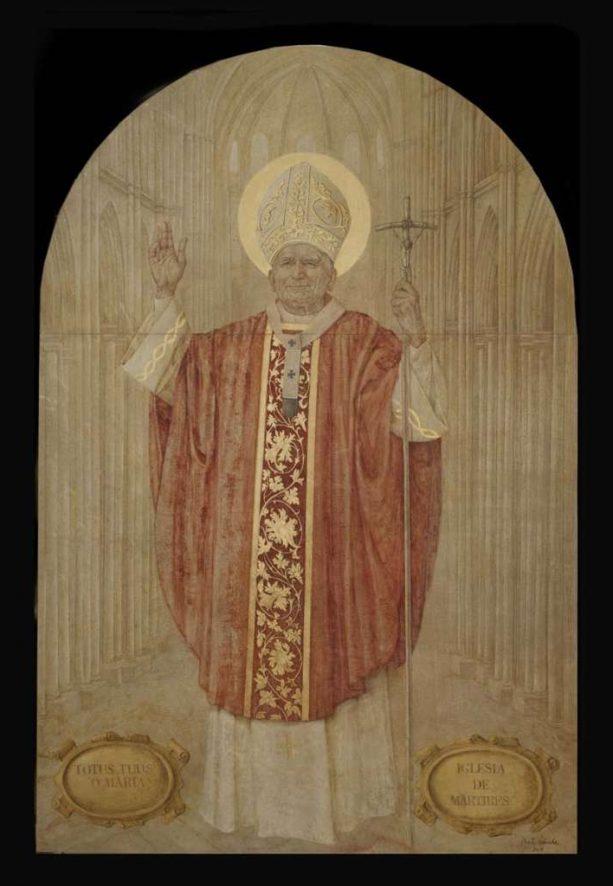Juan Pablo II. 240 x170. Iglesia de las Calatravas. Madrid